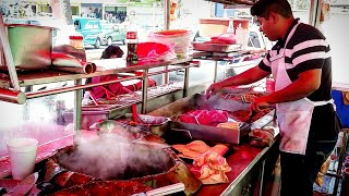 MEXICAN STREET FOOD - Incredible TACOS FULL OF FLAVOUR!! - The REAL DEAL - SAN LUIS POTOSI, MEXICO
