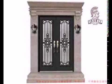 Wrought iron shop entry door installation video youtube for Entry door installation