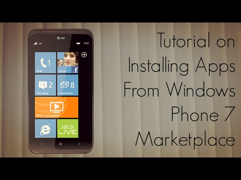 Tutorial on Installing Apps From Windows Phone 7 Marketplace - PhoneRadar
