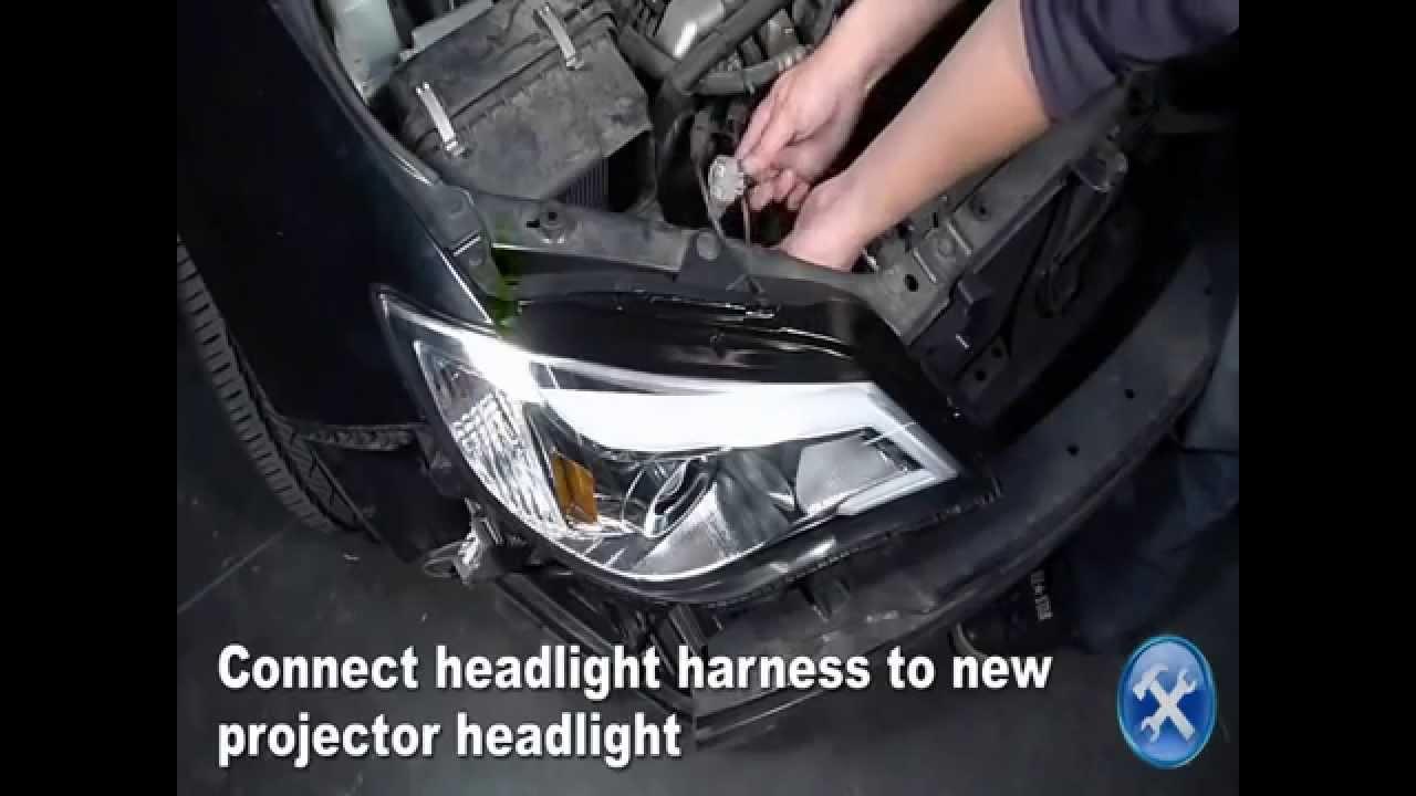 medium resolution of specdtuning installation video 2008 2012 subaru impreza projector headlights mp4
