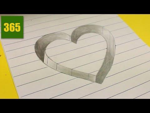 Comment Dessiner Une Illusion Doptique Coeur Tutoriel