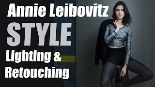 Annie Leibovitz Style Lighting Technique & Retouching Tips using StyleMyPic Pro Workflow Panel