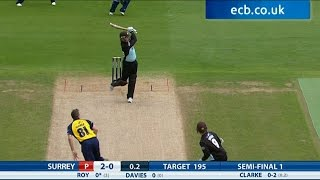 Jason Roy blasts 58 from 25 balls - Birmingham Bears v Surrey highlights