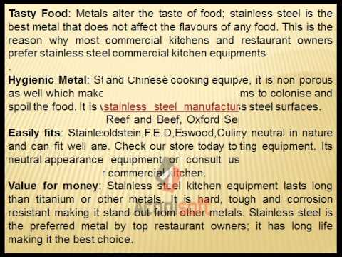 Importance Of Purchasing Commercial kitchen Equipment From Stainless Steel Manufacturer