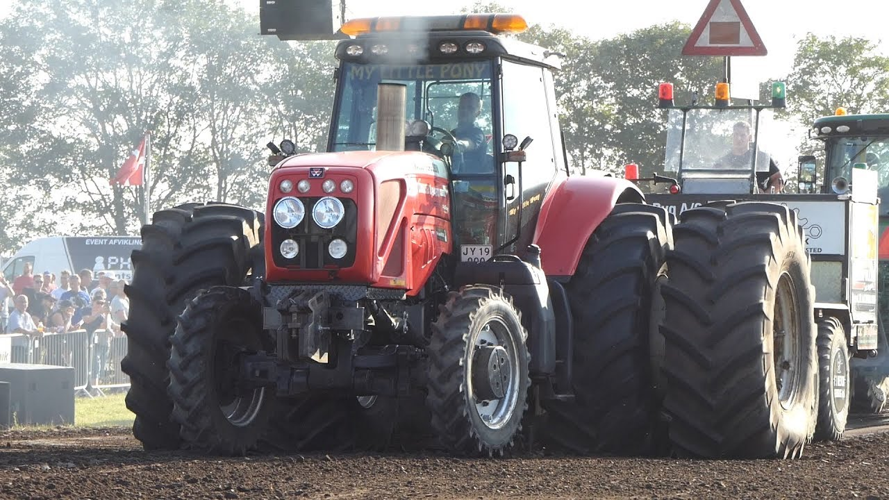 Massey Ferguson 8480 Dyna-VT aka  `My Little Pony` Pulling The Sled Good    Tractor Pulling DK