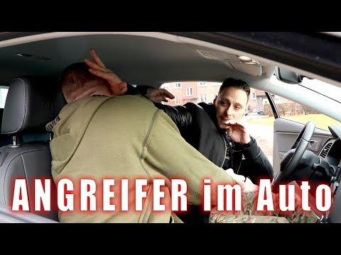 Im Auto ANGEGRIFFEN & VERTEIDIGT | Selbstverteidigung im Auto