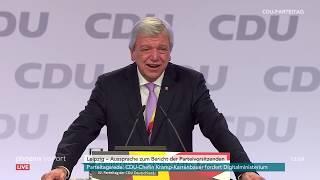 Rede von volker #bouffier (ministerpräsident hessen) in der aussprache zum bericht parteivorsitzenden auf dem #cdu-#parteitag leipzig am 22.11.19.