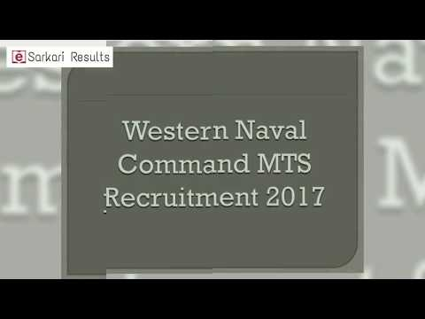 Western Naval Command Recruitment
