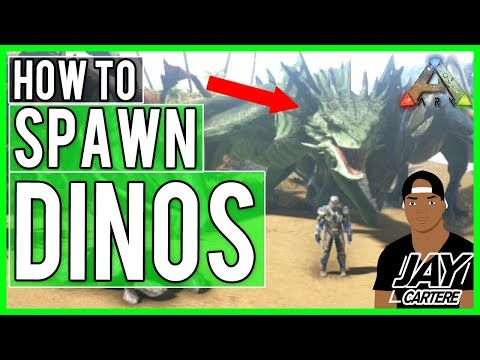 Ark Survival Evolved PS4 Tutorial - How To Spawn In All Wyverns - How To Spawn In Dinos