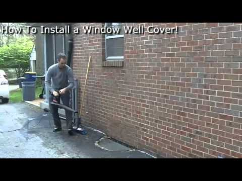 How To Install a Window Well Cover  YouTube