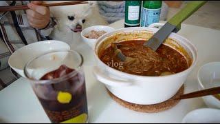 vlog | 우당탕 요란한 짬뽕탕 요리. 집콕이좋아 요…