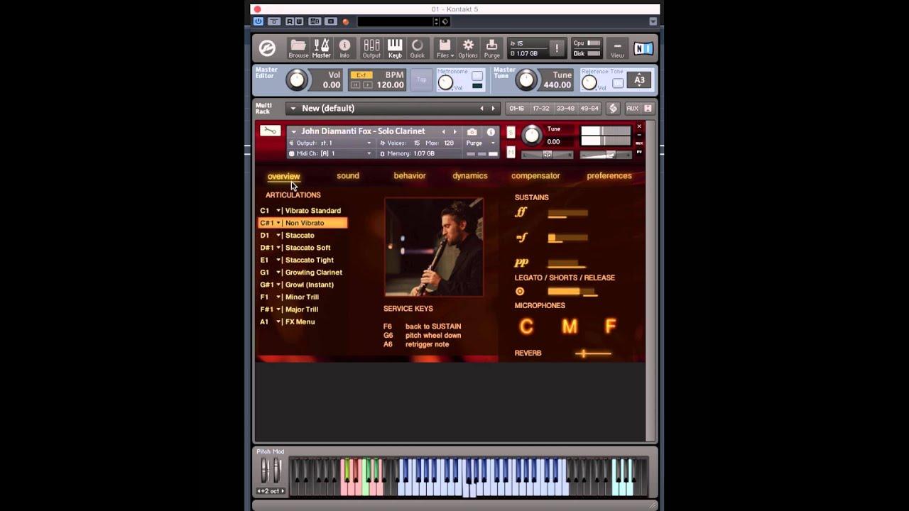 John Diamanti Fox: Solo Clarinet | FluffyAudio