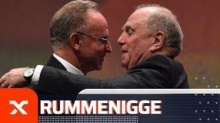 Karl-Heinz Rummenigge und Uli Hoeneß scherzen nach emotionaler Rede | FC Bayern München | SPOX