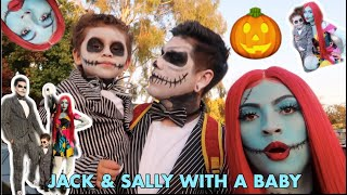 Spending the Day as JACK SKELLINGTON and SALLY!!!