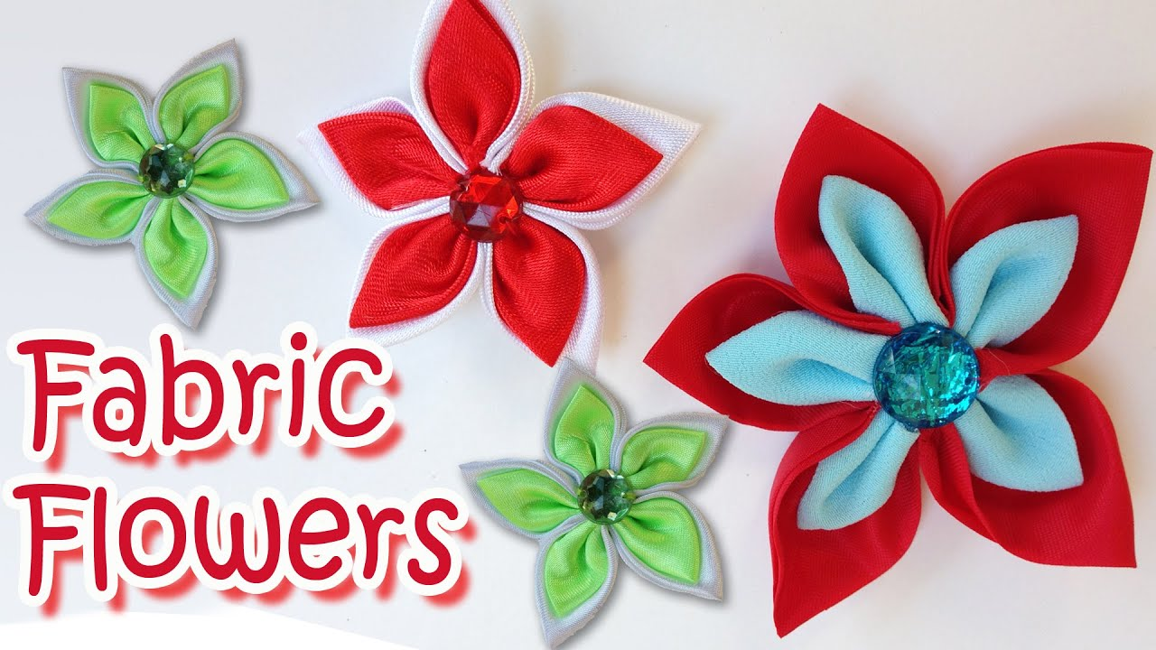 Uncategorized Diy Fabric Flower diy crafts how to make fabric flowers very easy tutorial ana youtube