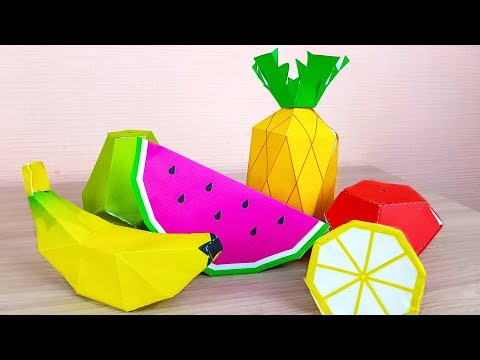 COLORS FRUITS FROM PAPER OR CARDBOARD | DIY