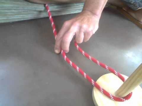 Noeud de chaise d 39 une main youtube - Noeud de chaise espagnol ...