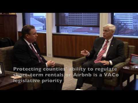 Speaker Bill Howell talks to VACo