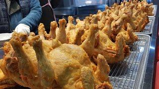 통으로 뜯어먹는 옛날 통닭 맛집 (Korean doub…