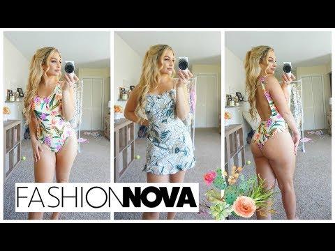 Fashion Nova Summer Haul! Swimsuits + Floral Prints ♡