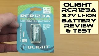 Olight RCR123A (16340 ) Li-ion Rechargeable Batteries  650mAh 3.7V: Review