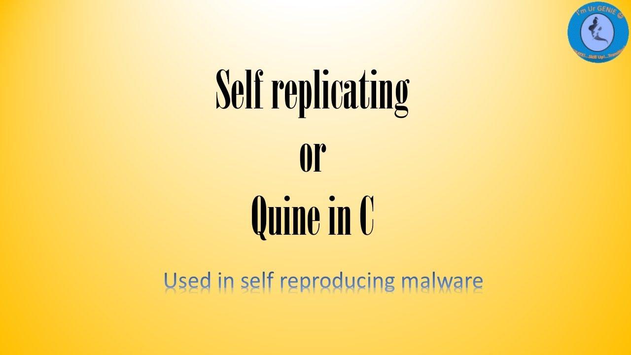 Self replicating malware C code | #SkillUpwithGenie #Clanguage #Quine