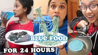 i only ate blue foods for 24 hours | clickfortaz