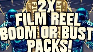 INSANE! 2x FILM REEL BOOM OR BUST PACKS! MADDEN OVERDRIVE FILM REEL BOOM OR BUST PACK OPENING! NFL!