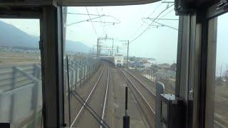 [前面展望]JR西日本湖西線 新快速/京都-敦賀 [cab view]JR-WEST Kosei Line Special Rapid Service / Kyoto - Tsuruga
