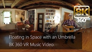 Floating in Space with an Umbrella - Music Video 8K #360 VR