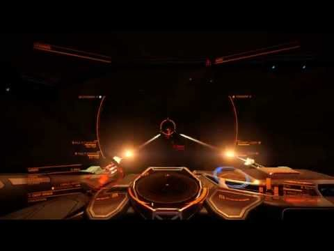 Elite Dangerous Pirate Hunting Massive Combat over 250k(2 million scaled) Credit payout.