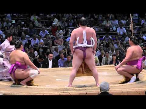 Live SUMO - Dohyo-iri (ring-entering ceremony) - Day 9 in Nagoya