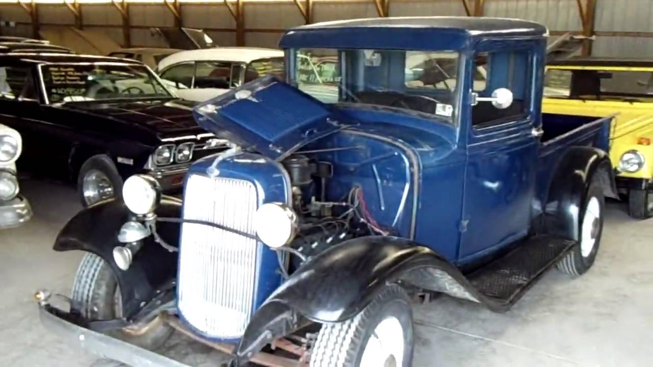 34 ford pick up flathead v8 blue at country classic cars youtube. Black Bedroom Furniture Sets. Home Design Ideas