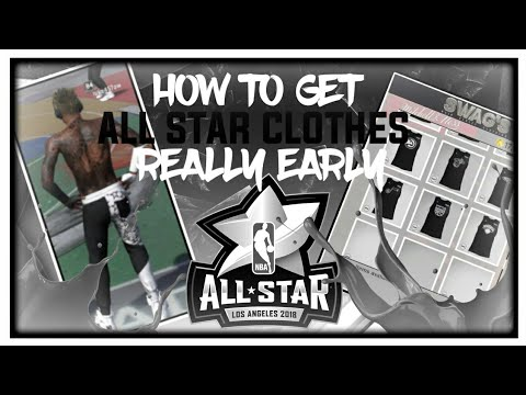 HOW TO GET TGE ALL STAR CLOTHES EARLY GLITCH😱| NBA 2K18