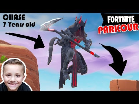 Doing Parkour on Creative Mode FORTNITE!! (Chase's Insane Fortnite Videos #7)