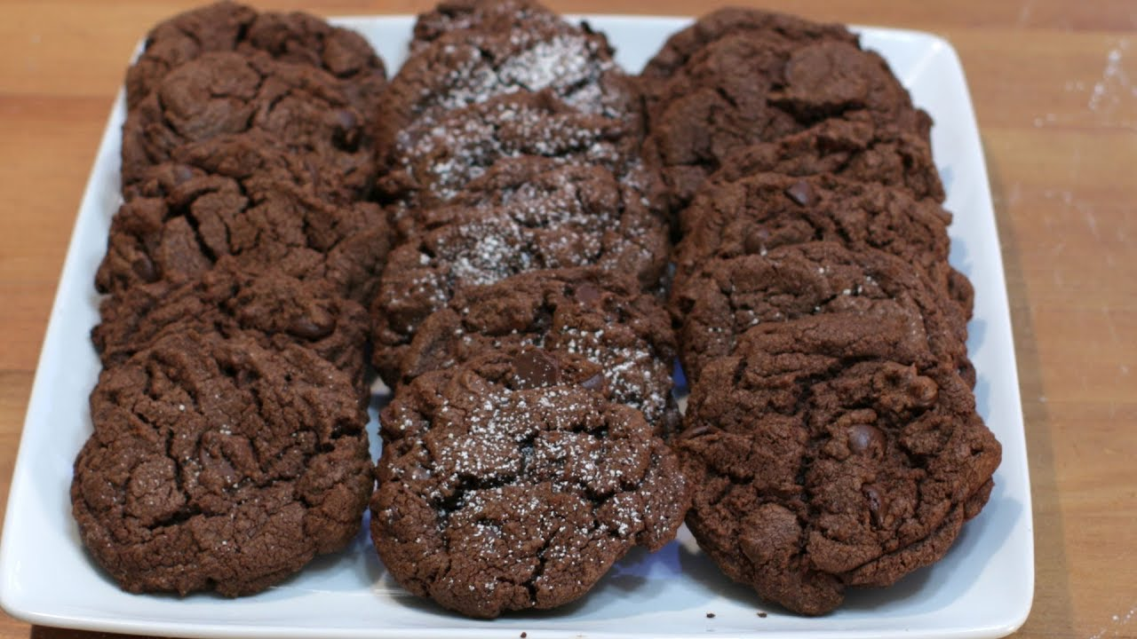 How To Make Chocolate Cookies Easy Homemade Chocolate Cookie Recipe Youtube