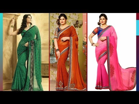 Zareen Khan Gorgeous Saree Design