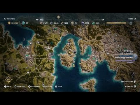Assassin S Creed Odyssey Golden Feather Location With Map