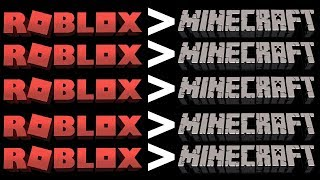 Pourquoi Roblox est BETTER Than Minecraft
