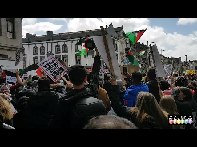 RALLY IN SUPPORT OF PALESTINE