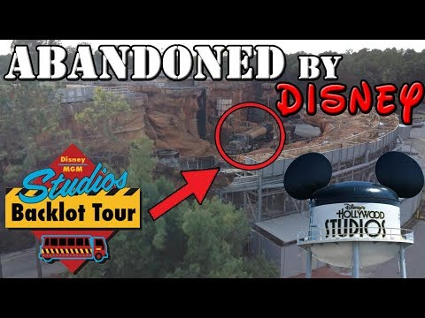 Exploring The ABANDONED Studio Backlot Tour Area At DISNEY'S HOLLYWOOD STUDIOS