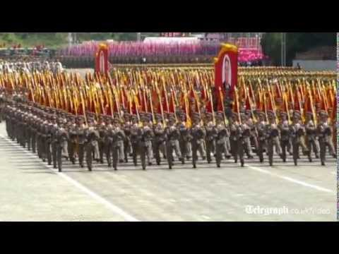 Giant military parade in Pyongyang