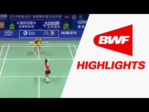 TOTAL BWF Thomas & Uber Cup Finals 2016 | Badminton Day 4/S2-Uber Cup Grp D-JPN vs IND-Highlights