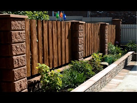 Simple wood fence