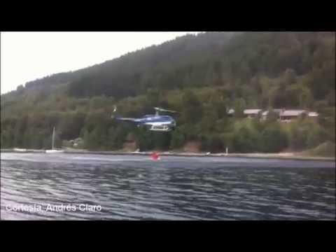 Helicópteros contra incendios forestales en lago colico thumbnail
