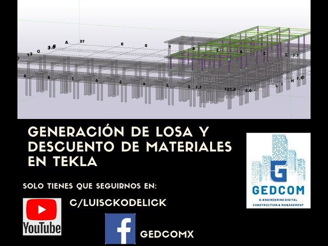 Tekla Structures | 12 Generación de Columnas con Tekla