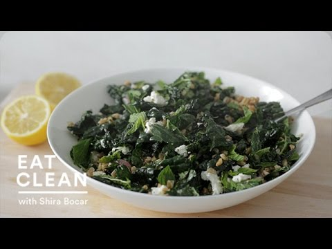 Kale and Farro Salad with Feta - Eat Clean with Shira Bocar