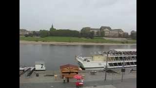 Дрезден. Эльба.(Эльба с Брюльской террасы, с нее открывается великолепный вид на все основные достопримечательности Старо..., 2014-10-26T01:18:29.000Z)