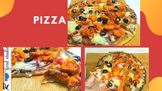 Tikka Pizza No Oven,No Yeast Only 2 Ingredient Pizza Dough! Lockdown Pizza Recipe By R Food Studio