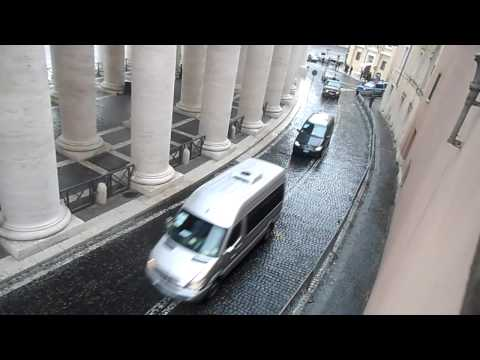 US President Obama Motorcade in Vatican City